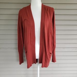 Sonoma Burnt Orange Cardigan Open Front Size XL